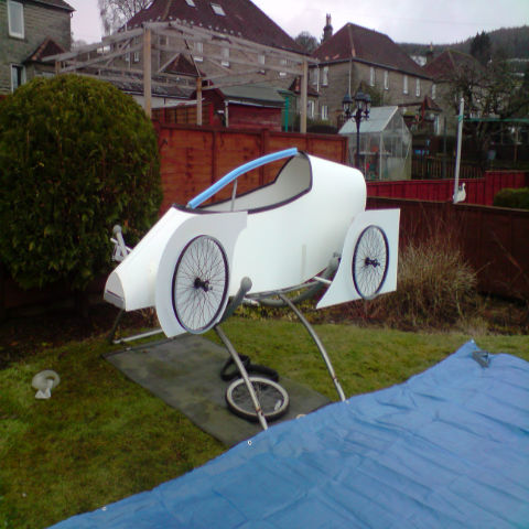 Soapbox Car Made from PVC Foamboard