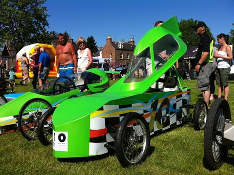 Foamboard Gravity Race Car