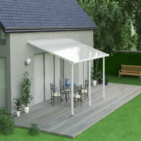 Olympia White Patio Cover
