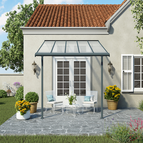 Sierra Grey & White Patio Covers