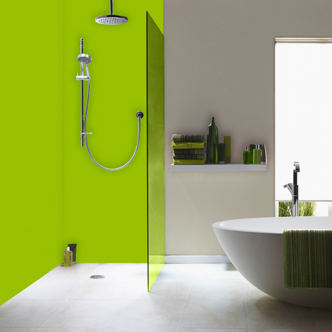 2 Panel Coloured Shower Kit