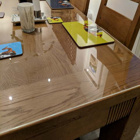 Clear Acrylic Table Tops And Protectors For Round Square