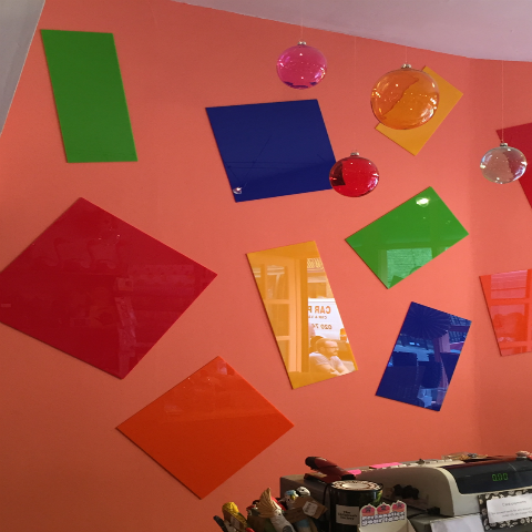 Coloured Acrylic (Perspex)