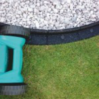mow easily up to the edge of your borders with flexi-edge