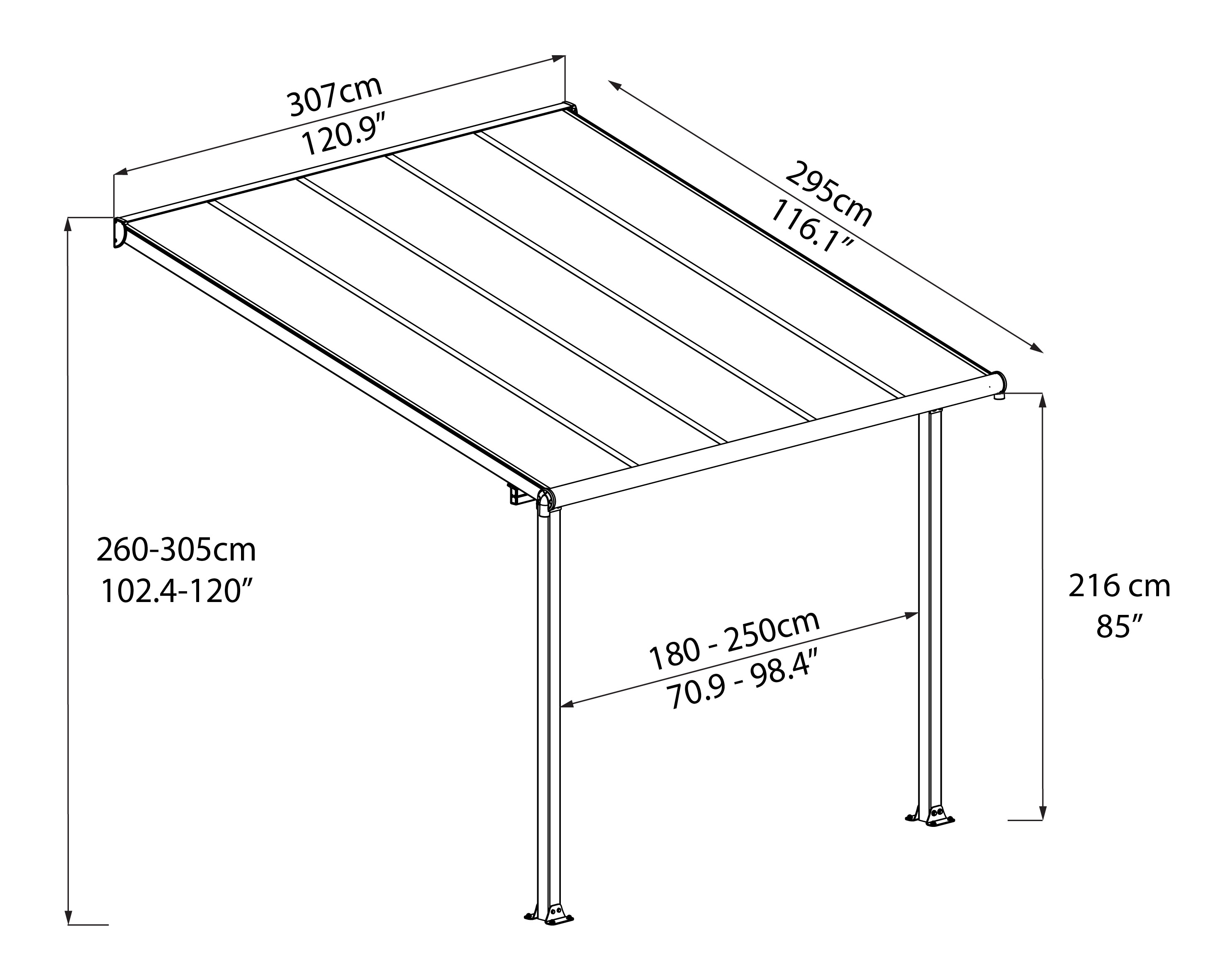 Sierra Grey And White Patio Covers The Plastic People