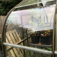 Polycarbonate for greenhouse repairs