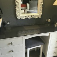 High gloss acrylic for stylish dressing table