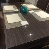 protect your table top with clear acrylic