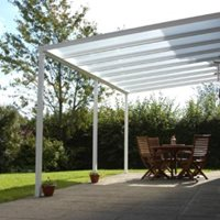 Opal Polycarbonate shades patio